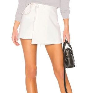 GRLFRND White Wrap Skirt